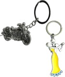 Alexus Couple B And Bike Key Chain (Silv...