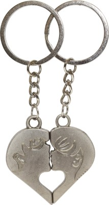 Bainsons Couple Boy And Girl Face Key Chain