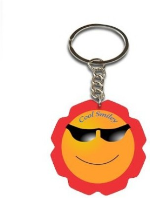 Onlineworld Smiley Face Flower Shape-01 Key Chain