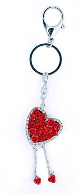 i-gadgets Beautiful Stone Studded Luxury Rose Heart Locking Key Chain