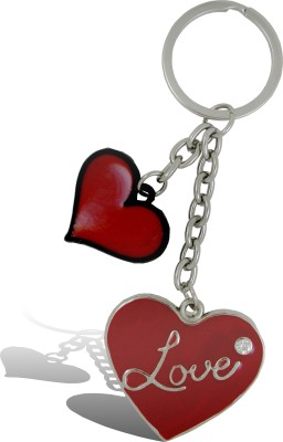 Get Fatang Double Love Heart with Diamond Valentine Key Chain