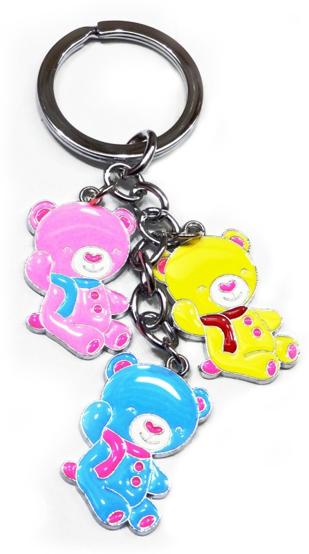 Aditya Traders love teddy metal keychain Key Chain(Multicolor)