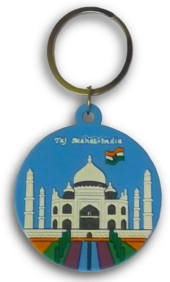 IndiSmack Rubber Taj Mahal Keychain Locking Key Chain