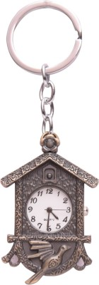 Oyedeal Designer House Shape with Pocket Clock Key Chain