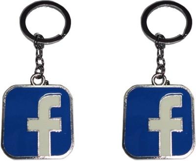 Singh Xpress Fancy Facebook Metal(Pack of 2) Key Chain