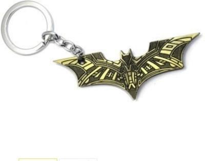 SURAJ ENTERPRISES Batman bat texture logo golden Metal Keyring for bikes and cars Key Chain