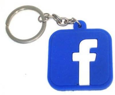 Butterfly Facebook Logo Soft Rubber Key Chain Key Chain