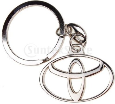 99DailyDeals R45 Toyota chrome plated steel imported key chain key ring car logo for etios liva corolla innova camry fortuner cars Key Chain