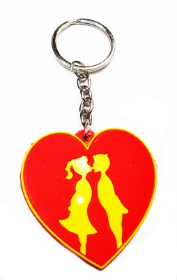 Aditya Traders KISSING COUPLE RUBBER KEYCHAIN Key Chain