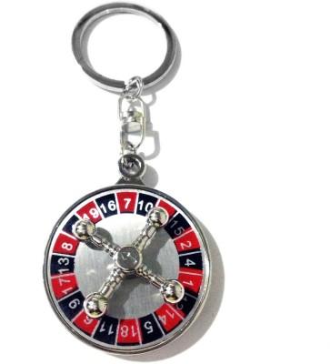 Tech Fashion Casino Roulette Wheel Game Locking Key Chain