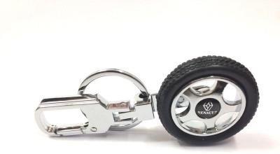 Kairos Renault Tyre Rotary Wheel Key Chain(Silver)
