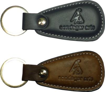 Sondagar Arts Classic Genuine Leather Men's Key Chain