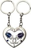 Bainsons Couple Heart Shape Blue Rose Ke...