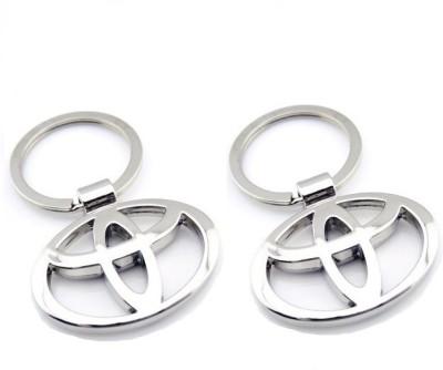 Indiashopers Toyota Metallic Key Ring (Pack of 2) Key Chain