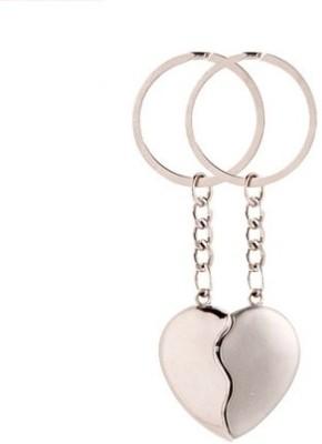 Phoenix Silver Broken Heart Key Chain