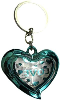 DCS Green Heart Design Keychain Locking Carabiner