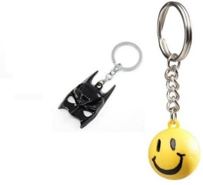 Confident Black Face Mask02 And 1 Smily Ball Key Chain