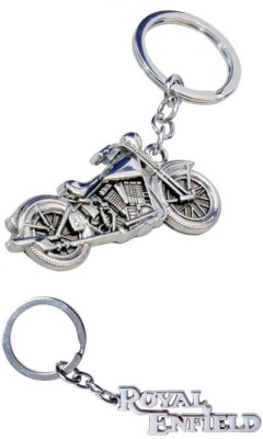 Chainz Royal Enfield Engraved and Chopper Bike Metal Key Chain