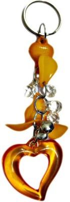 DCS Heart Shape Key Chain With Beads(Fancy) Locking Key Chain
