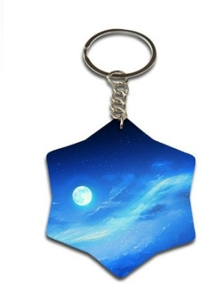 Onlineworld Star Shape Wood -06 Key Chain