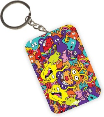 The Crazy Me Monsters Colorful Faces Mixed Key Chain