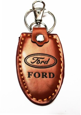 Aditya Traders CLASSY LEATHER ,FORD, KEYCHAIN Locking Carabiner