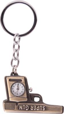 Oyedeal Designer Super Gun with Pocket Clock Key Chain