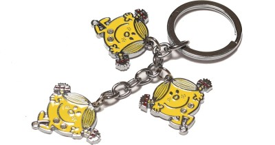 Thinksters Smiley Girl Keychain Carabiner