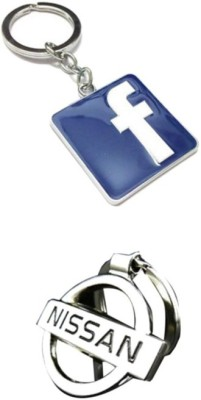 Homeproducts4u Nissan & Facebook Key chain (Pack of 2)-19 Key Chain