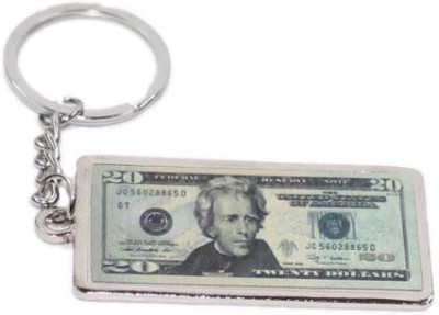 Aura United States 20 Dollar Note Metal Key Chain