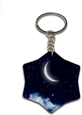 Onlineworld Star Shape Wood -04 Key Chain