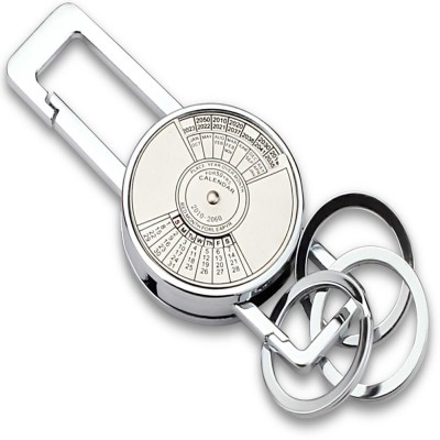 Indiashopers Calender Metallic Locking Key Chain