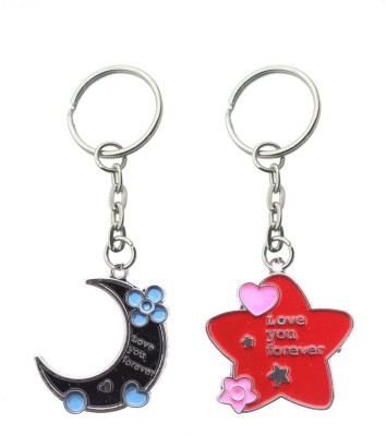 CTW Love You like Star & Moon Couple Valentine Key Chain