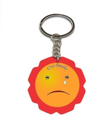 Onlineworld Smiley Face Flower Shape-02 Key Chain