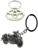 Alexus Toyota And Bike Key Chain (Silver...