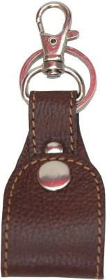 Walletsnbags Fine Milled Loop Keychain- Brown Key Chain