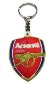 """FASHION FEVER CLASSY RUBBER """"ARSENAL"""" WITH METAL Key Chain"""