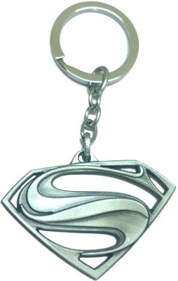 AA Retail Superman Silver Premium Metal Key Chain