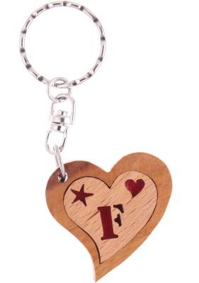 JM Alphabet F Heart Key Chain