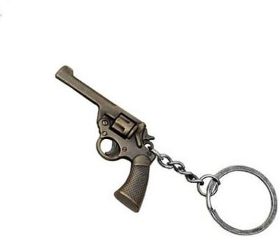 Phoenix Retro Style Gun Bronze Key Chain