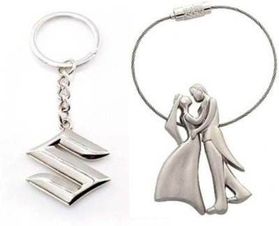 Rashi Traders Maruti Suzuki & Valentine Couple Key Chain