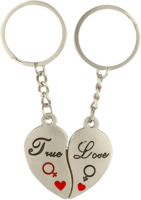 Anishop Valentine True Love Heart Couple Key Chain