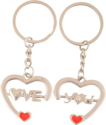 ShopeGift 2 Love Hearts Key Chain