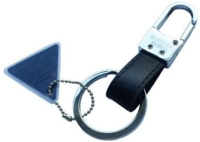 Abzr Fine Omuda Leather Locking Key Chain(Black) Key Chain