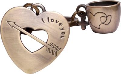 Oyedeal I love you Heart with Mug Key Chain