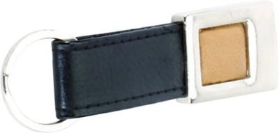 Pyramid Pyramid Soft Imported Leather Black Key Ring Locking Key Chain