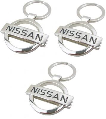 Indiashopers Nissan Metallic Ring (Pack Of 3) Key Chain