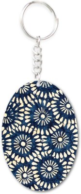 Lolprint 25 Pattern Oval Key Chain