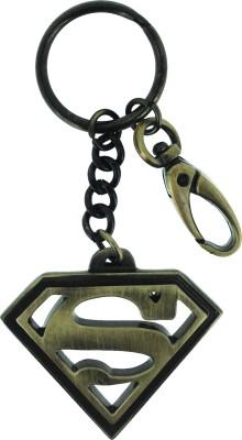 Warner Bros Superman Antique Brass Metal Keychain Carabiner
