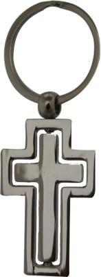 Aaradhi Divya Mantra Rotating Cross Beautiful Metallic Locking Key Chain